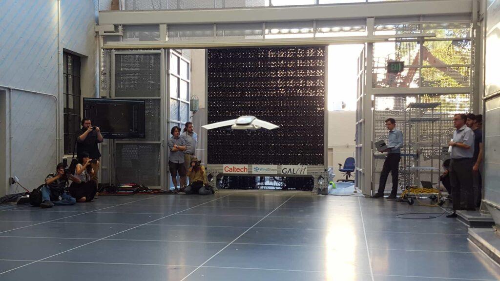 Drone flight testing with wind generator