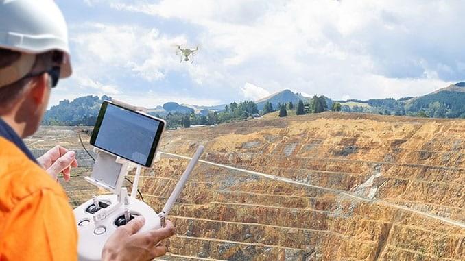 Drone construction site survey