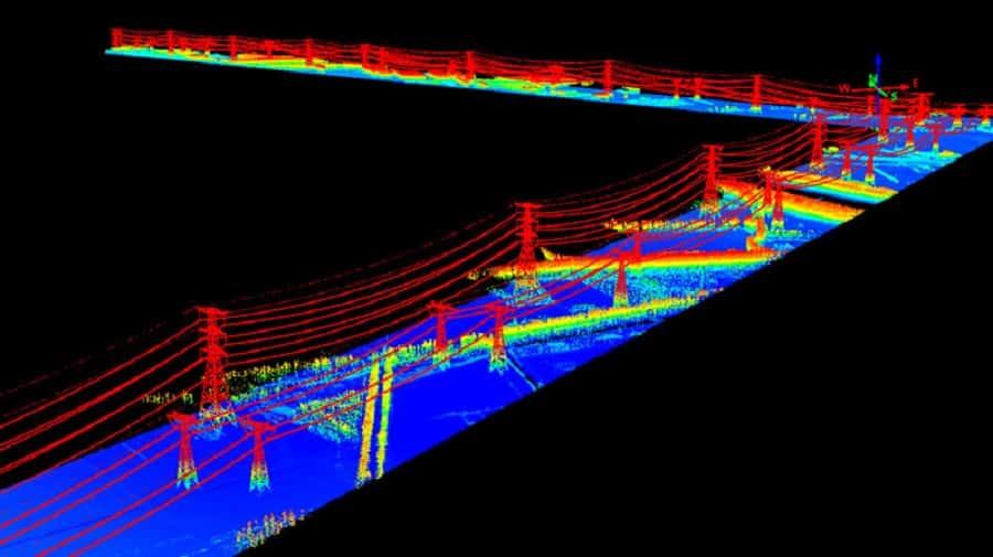 Power line lidar imagery