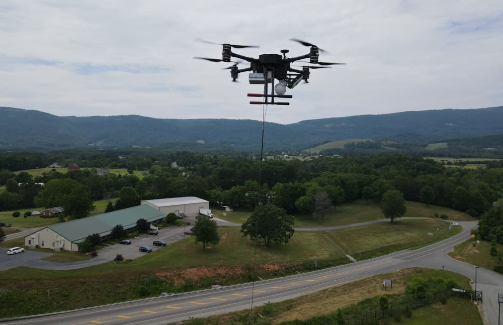 Zenith tethered drone