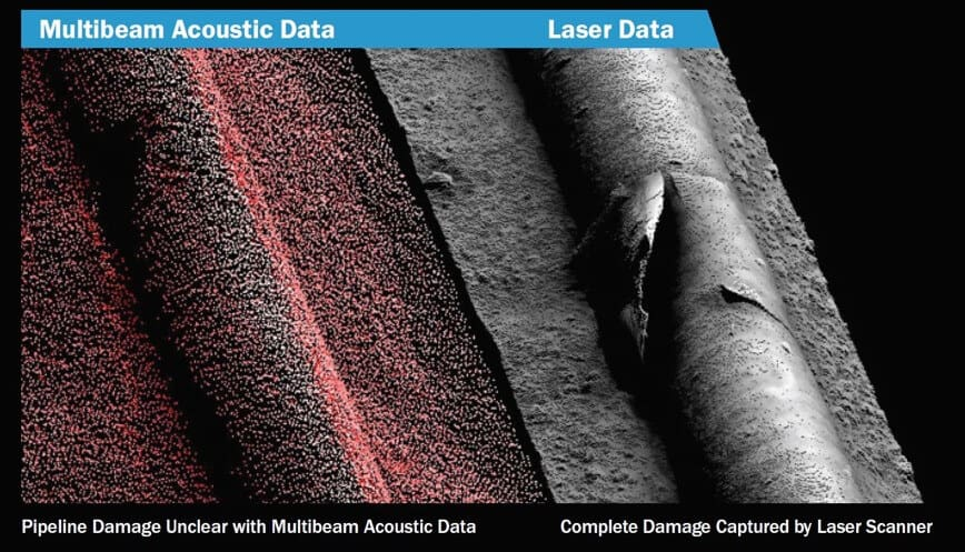 long-range 3D laser scanner vs Multibeam