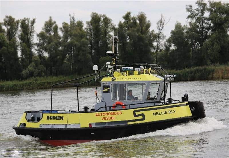 Sea Machines autonomous vessel
