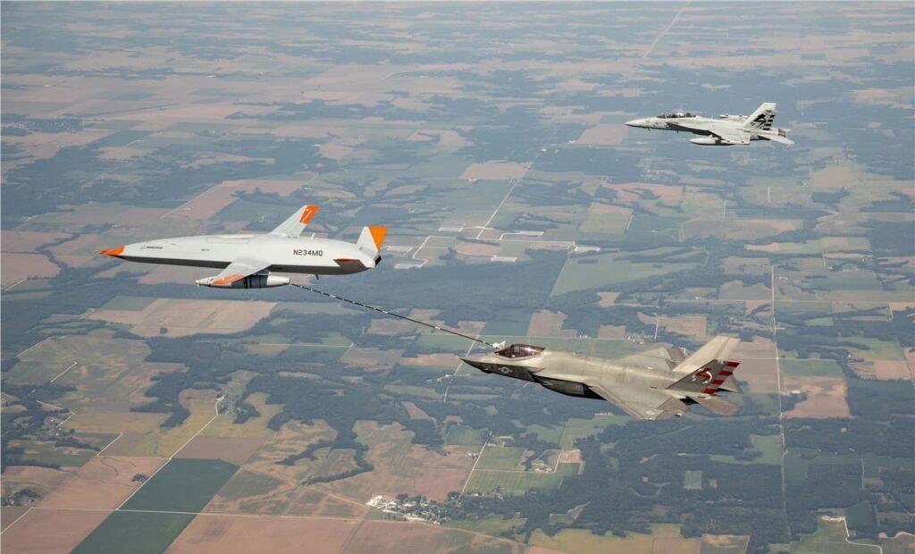 US Navy refueling UAS